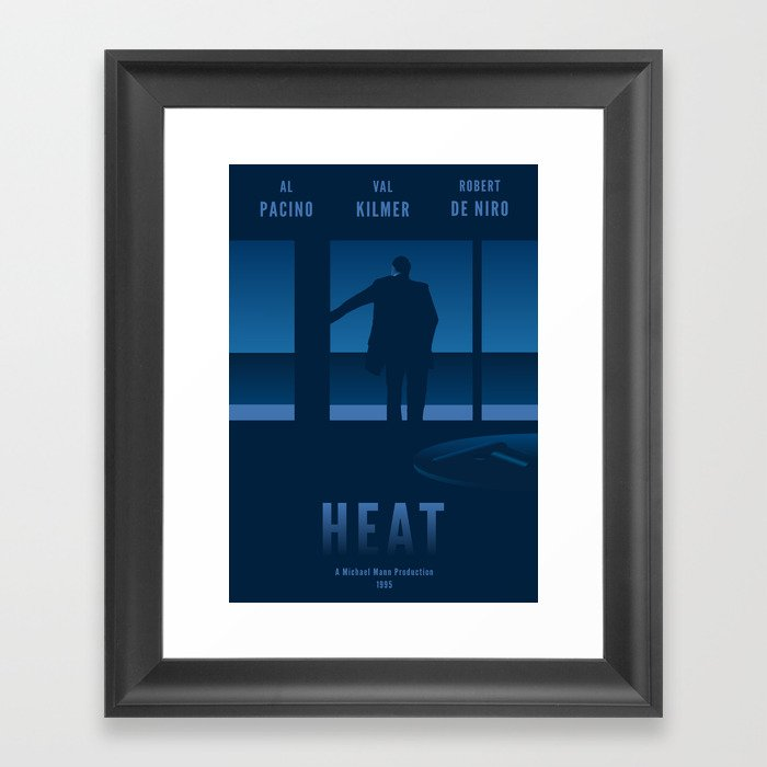 Heat Tribute Movie Poster Framed Art Print By Richcartwright
