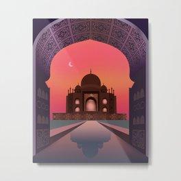 India, Taj Mahal Metal Print