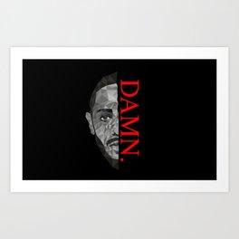 Kendrick Lamar Pixelated Art Print