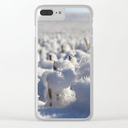 Field in the snow Clear iPhone Case
