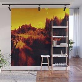 Eyes On Orange Horizons Wall Mural