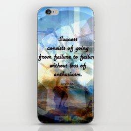 Winston Churchill Motivational SUCCESS QUOTE iPhone Skin