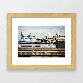 Helsinki Harbor Framed Art Print