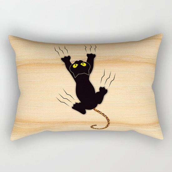 Cat Climbing Rectangular Pillow