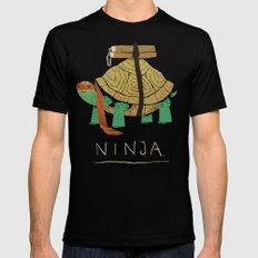 ninja - orange LARGE Black Mens Fitted Tee