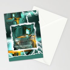 electric avenue Stationery Cards