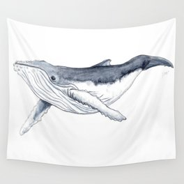 Baby humpback whale (Megaptera novaeangliae) Wall Tapestry