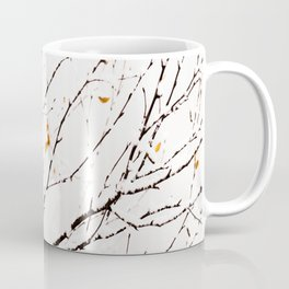 Snowy birch twigs and leaves #society6 #decor #buyart Coffee Mug