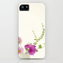 Simply Garden Flowers iPhone Case