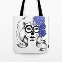 gothic Tote Bags featuring Gothic by bexchalloner