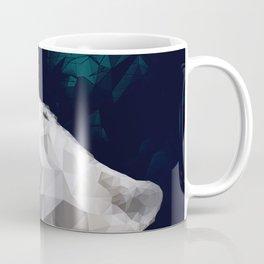 Low-Poly Wolf Howling Coffee Mug
