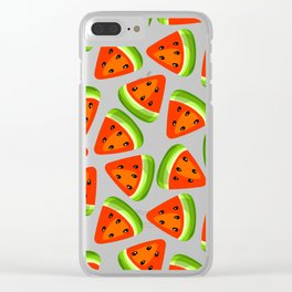 Watermelon seamless pattern Clear iPhone Case