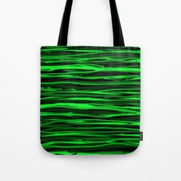Lime Green and Black Stripes Tote Bag