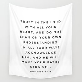 Proverbs 3:5-6 Bible Verse Trust In The Lord With All Your Heart Scripture Christian Wall Decor Wall Tapestry
