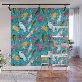 Australian Native Birds and Flowers Wall Mural