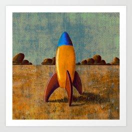 Toy Rocket Art Print