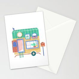 Tiny house// dream home// wooden cabin // food truck//  cute house  Stationery Cards