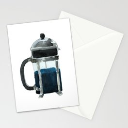 French Press - Blue Stationery Cards