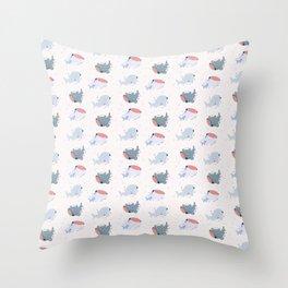 Whale Shark Buddies Throw Pillow