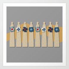 Gaudi Chimneys Art Print