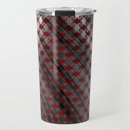 Red Metallic Swirl Travel Mug