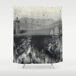 Fantasy Marine in Grigio Shower Curtain