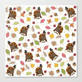 Thanksgiving Turkey pattern Canvas Print