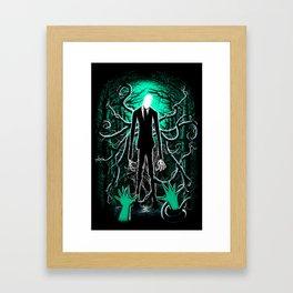 Slender Man (sea green color) Framed Art Print