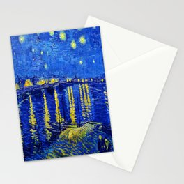 Van Gogh Starry Night Over the Rhone Stationery Cards