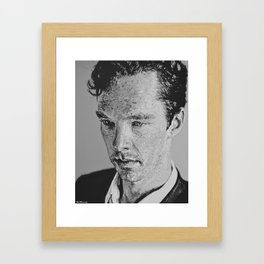 Benedict Cumberbatch Portrait #4 Framed Art Print