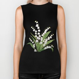 white lily of valley Biker Tank