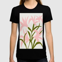 Floral Print, Flower Meadow, Large Giclee Print from Painting, Wall Art, Abstract Meadow Print, pink T-shirt