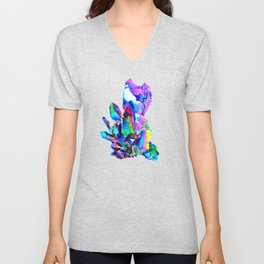 Rainbow Aura Quartz Crystal Unisex V-Neck