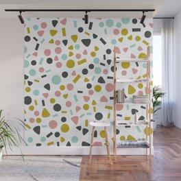 Pastel Confetti Wall Mural