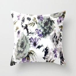 Kwan Yin Roses Throw Pillow