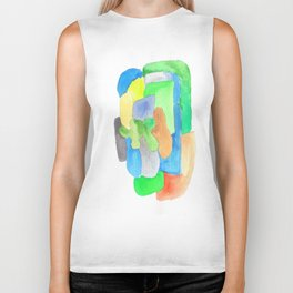 171013 Invaded Space  3 |abstract shapes art design |abstract shapes art design colour |shapes art Biker Tank