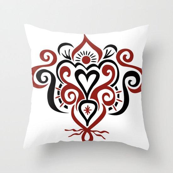 Bound heart Throw Pillow