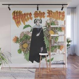 Melonie: Victorian Flower Series, Where She Rules Wall Mural