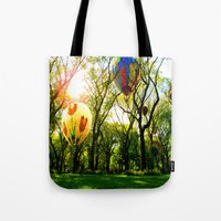 central park Tote Bags featuring Central Park by kpatron