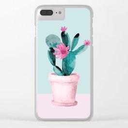 Cactus II Clear iPhone Case
