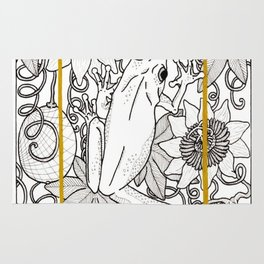 Tree Frog and passion vines Rug