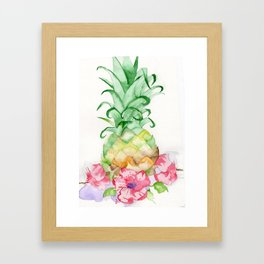 Hawaiian Pineapple Framed Art Print