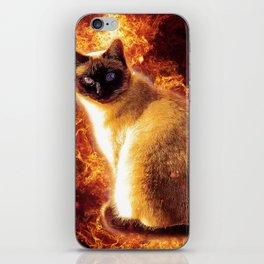 Flame Cat iPhone Skin