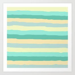lumpy or bumpy lines abstract and summer colorful - QAB271 Art Print