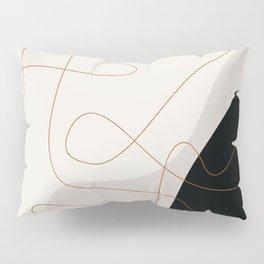 Infinity N.02 - Abstract Line Art Pillow Sham