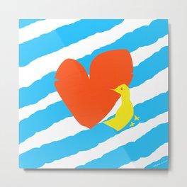 heart and bird Metal Print