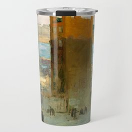 George Bellows - The Lone Tenement, 1909 Travel Mug