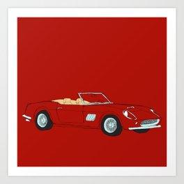 Ferrari 250 GT Califonia Spyder Art Print