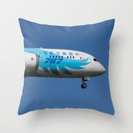 China Southern Airlines Boeing 787 Throw Pillow