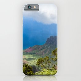 Kalalau lookout in Koke'e State Park - Kauai, Hawaii iPhone Case
